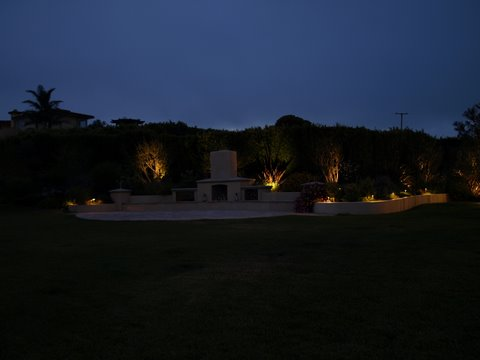 Landscape Lighting Oak Park Patio Area